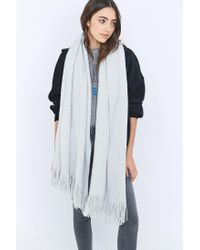 Urban Outfitters - Blue Soft Furry Scarf - Lyst