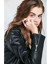 Urban Outfitters | Metallic Heart Mood Ring | Lyst