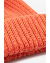 Urban Outfitters - Blood Orange Ribbed Beanie - Lyst