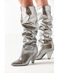 Urban Outfitters - Metallic Tess Glitter Scrunch Knee-high Boot - Lyst