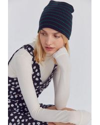 Urban Outfitters - Blue Basic Striped Beanie - Lyst