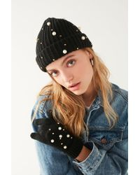 Urban Outfitters - Black Pearl Embellished Glove - Lyst