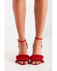 Urban Outfitters - Red Rachel Lucite Heel - Lyst