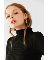 Urban Outfitters - Metallic Two-tone Doubled Hoop Earring - Lyst