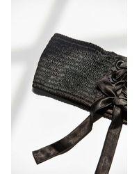Urban Outfitters - Black Sophia Satin Corset Belt - Lyst
