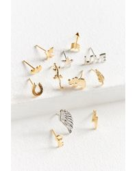 Urban Outfitters - Metallic Iconic Post Earring Set - Lyst