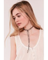 Urban Outfitters - Black Beaded Wrap Choker Necklace - Lyst