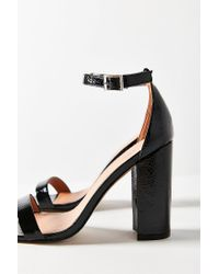 Urban Outfitters - Black Thin Strap Patent Heel - Lyst