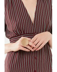 Urban Outfitters - Metallic Brushed Circle Statement Ring - Lyst