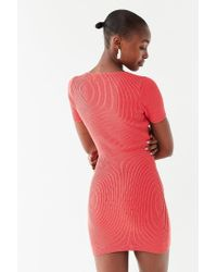 Urban Outfitters - Red Uo Lily Button-down Bodycon Mini Dress - Lyst