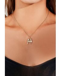 Urban Outfitters - Metallic Unicorn Charm Necklace - Lyst
