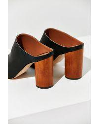 Urban Outfitters - Black Wood Heel Mule - Lyst