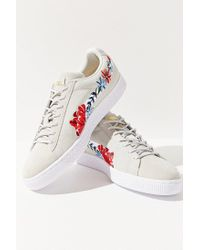 bfbcc766283 Lyst - PUMA Puma Basket Heart Hyper Embroidered Sneaker in Gray