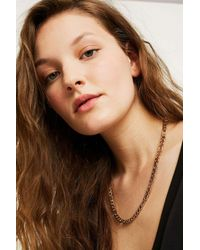 Urban Outfitters - Metallic Chunky Flat Chain Necklace - Lyst