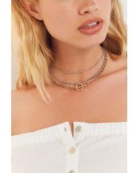 Urban Outfitters - Metallic Chain Layering Necklace - Lyst