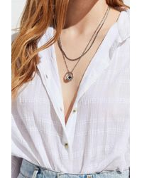 Urban Outfitters - Metallic Layered Ring Charm Necklace - Lyst