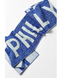 Urban Outfitters - Blue City Intarsia Soccer Scarf - Lyst