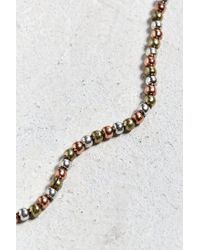 Urban Outfitters - Multicolor Antique Tri-tone Beaded Necklace - Lyst