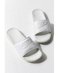 385d81fa6fb61 Lyst - Nike Benassi Slides in White