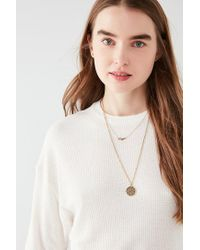 Urban Outfitters - White Uo Ross Thermal Crew-neck Tee - Lyst