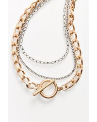 Urban Outfitters | Metallic Chain Layering Necklace | Lyst