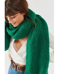 Urban Outfitters - Green Nubby Cozy Blanket Scarf - Lyst