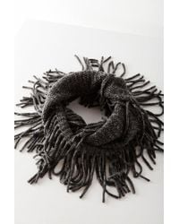 Urban Outfitters - Gray Fringed Infinity Scarf - Lyst