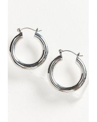 Urban Outfitters - Metallic Hollow Hoop Earring - Lyst