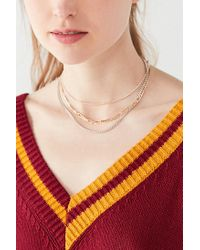 Urban Outfitters - Multicolor Simple Chain Necklace Set - Lyst