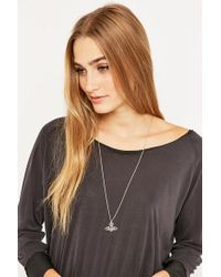 Vivienne Westwood - Metallic Thin Lines Flat Orb Gold Necklace - Lyst