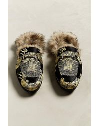 Urban Outfitters - Black Uo Faux Fur Lined Slip-on Loafer - Lyst