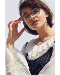 Urban Outfitters | Red Kendall Retro Round Readers | Lyst
