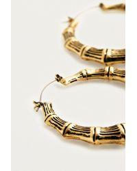 Urban Outfitters - Metallic Medium Bamboo Hoop Earrings - Lyst