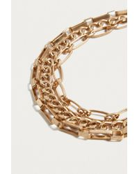 Urban Outfitters - Metallic Chunky Layered Chain Necklace - Lyst