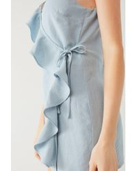 Urban Outfitters - Blue Uo Ruffle Wrap Skort Romper - Lyst