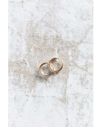 Seoul Little - Metallic X Uo 18k Gold Small Hoop Earring - Lyst
