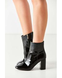 Urban Outfitters - Black Sloane Seamed Patent Leather Ankle Boot - Lyst