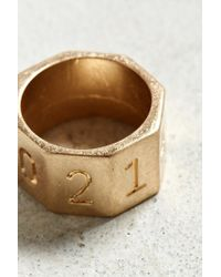 Urban Outfitters - Metallic Number Nut Ring for Men - Lyst
