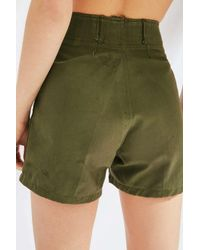 Urban Renewal - Green Vintage Herringbone Short - Lyst
