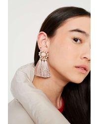 Urban Outfitters - Pink Beaded Tassel Drop Earrings - Womens All - Lyst