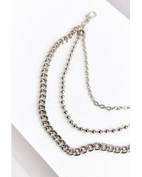 Urban Outfitters - Metallic Triple Chain Belt - Lyst
