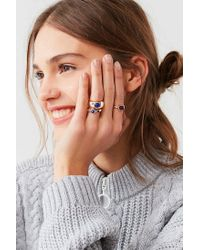 Urban Outfitters - Metallic Cyra Statement Ring Set - Lyst
