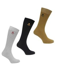 Firetrap Gray Textured Socks Mens for men