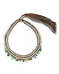 Alyssa Norton - Metallic Dark Hand Painted Necklace - Lyst