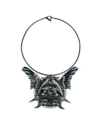 Heaven Tanudiredja - Black Wings Medallion Necklace - Lyst