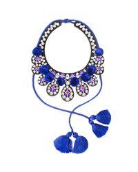Shourouk | Blue Toboso Necklace | Lyst