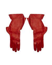 Aristide | Black Tiered Red Gloves | Lyst