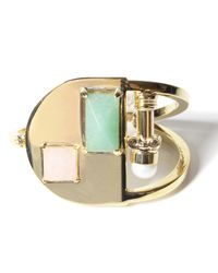 Volha | Metallic Onyx Gold Bracelet | Lyst