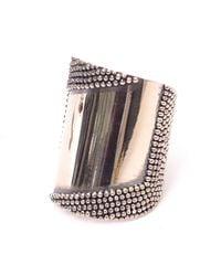 Anndra Neen - Metallic Silver Mirror Cuff - Lyst