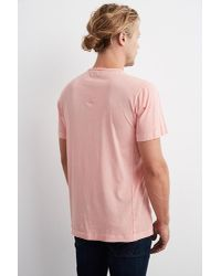 Velvet By Graham & Spencer | Pink Langley Short Sleeve Pigment Dye Whisper Tee for Men | Lyst